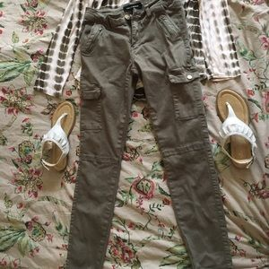 Ashley Mason olive cargo skinny pants